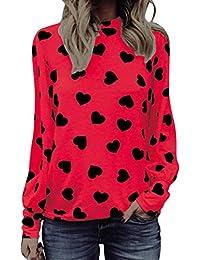 FAMILIZO Camisetas Mujer Manga Larga Algodon Camisetas Mujer Tallas Grandes Camisetas Mujer Verano Blusa Mujer Sport