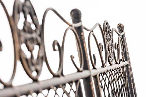 CLP Metall Gartenbank PURUSHA, 2-Sitzer, Landhaus-Stil, Eisen lackiert, Design nostalgisch Bronze - 4