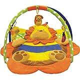 Fanny's - Alfombra de juego con arco, juguetes y accesorios, diámetro aproximado de 90 cm, también para llevar de viaje, diseño de león
