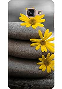 AMEZ designer printed 3d premium high quality back case cover for Samsung Galaxy A5 2016 (stones and flower)