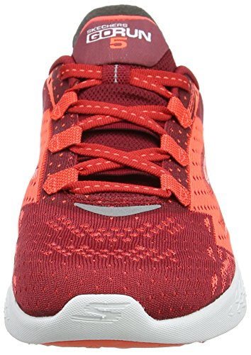 Skechers Go Run 5, Scarpe Sportive Outdoor Uomo Rosso (Red/orange)