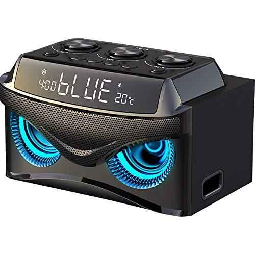 Xiao Jian- Drahtlose Bluetooth-Lautsprecher Super Subwoofer Mini Kanone Mobile Car Audio Smart Home Voice Announcer Außen Wecker 3D Surround Große Kapazität Tragbare Wecker (Farbe : C)