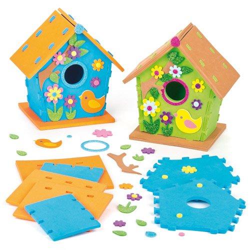 Casette in schiuma per uccelli kit per bambini per for Decorazioni autoadesive