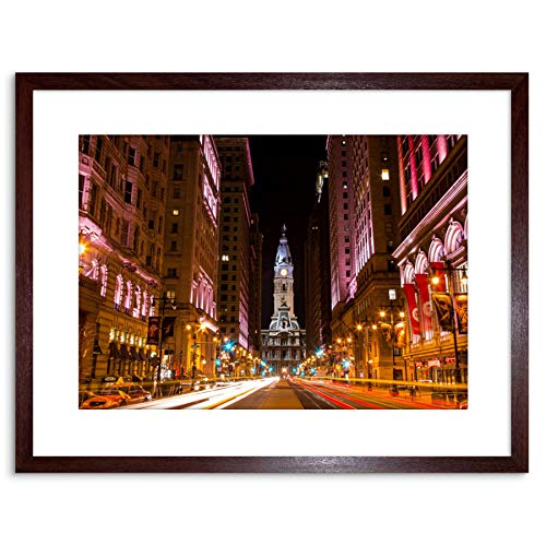 PHOTO CITYSCAPE CITY HALL PHILADELPHIA PA FRAMED ART PRINT POSTER F97X12206 -