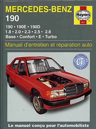 mercedez-benz-190-190e-190d-18-20-23-25-26-base-confort-e-turbo-manuel-dentretien-et-reparation-auto