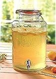 Emanhu Trading Getränkespender aus Glas mit Zapfhahn Getränke Eis-Tee Saft Drinks Dispenser 8L