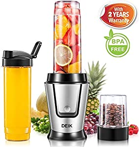 DEIK Mini Mixer, Smoothie Maker 2 in 1 Multifunktion Standmixer+ Ice Crusher...