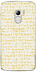 URBAN KOLOURS Original Designer Printed Clear Case Back Cover for Lenovo K4 Note (Egyptian Pattern-Clear)