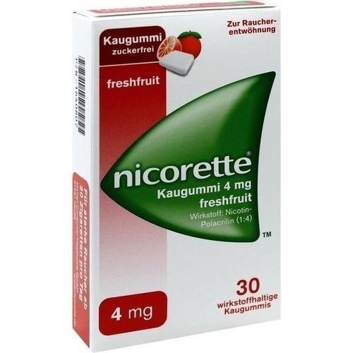 Preisvergleich Produktbild Nicorette 4 mg freshfruit Kaugummi,  30 St.