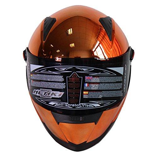 Nenki NK-861Vollvisier-Motorradhelm, ECE geprüft, mit Sonnenblende - 3