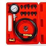 SHIOUCY Öldruckprüfer Öldruckmesser Set 0-10bar / 0-140PSI Manometer Kohlenstoffstahl