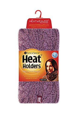 Heat Holders - Femmes thermique hiver chaudes chapeau, cache-cou écharpe et mitaines gants ensemble (Set) Rose