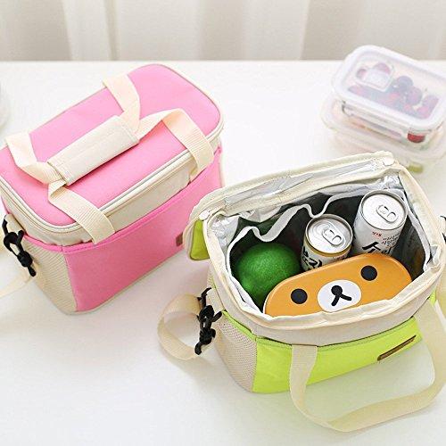 Borsa frigo portatile/borsa per il pranzo borsa porta pranzo/picnic all' aperto/ Pink