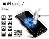 Cristal Templado [dureza 9H] [IPhone 7] Protector Pantalla HD Bright [0,25 mm de espesor]