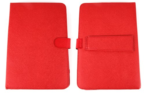 10 Zoll Hülle mit QWERTZ-Tastatur für SAMSUNG Galaxy Tab 4 10.1 (SM-T535) Tablet PCs (ROT) - 5