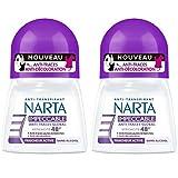 Narta - Déodorant Femme Bille Anti-Transpirant Impeccable Efficacité 48h - 50 ml - Lot de 2