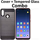 POPIO Tempered Glass & Back Cover Case Combo FOR Xiaomi Redmi Note 7 / Redmi Note 7 pro (Transparent Glass & Cover Combo)