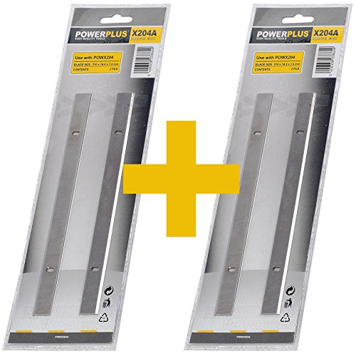 Abricht- und Dickenhobel Messer Set mit 4 Messer POWX204A