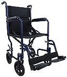 Aidapt VA172BLUE Kompakter Transport-Rollstuhl aus Aluminium