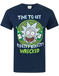 Rick & Morty Riggity Riggity Wrecked Men'S T-Shirt