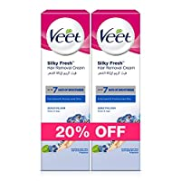 Veet Hair Removal Cream Sensitive Skin 100ml Twin Pack