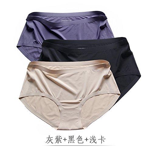YMFIE Invisibile in cotone traspirante la seta intimo senza cuciture lady comoda e morbida mutandine 3 H