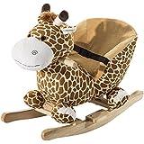 Homcom® Schaukelpferd Kinder Schaukeltier Plüsch Schaukel Pferd Baby Schaukelspielzeug Geschenk für Kinder