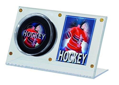 Ultra Pro NHL Puck und Kartenhalter aus Acryl (Card Und Holder Hockey-puck)