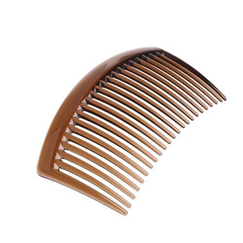 Jiamins Mode 5 Teile/Set Handmade 23 Zahn Haarkämme Damen DIY Kunststoff Clip Haarschmuck (Kaffee)