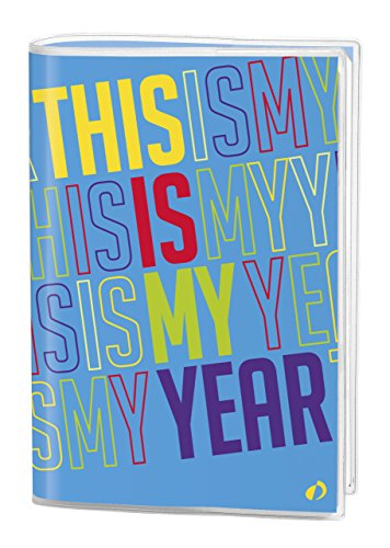 "Quo Vadis Agenda Journalier Personalized Pop Blue ""This is my year – Seven 2017 August 2018 – 12 x 17 cm"