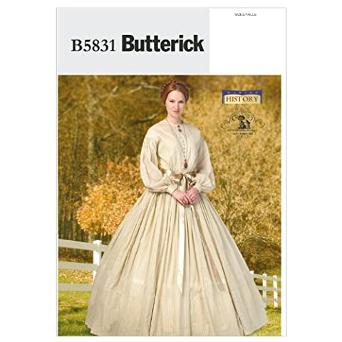 Butterick Patterns B5831 Size B5 8-10-12-14-16 Misses' Dress, Pack of 1, White