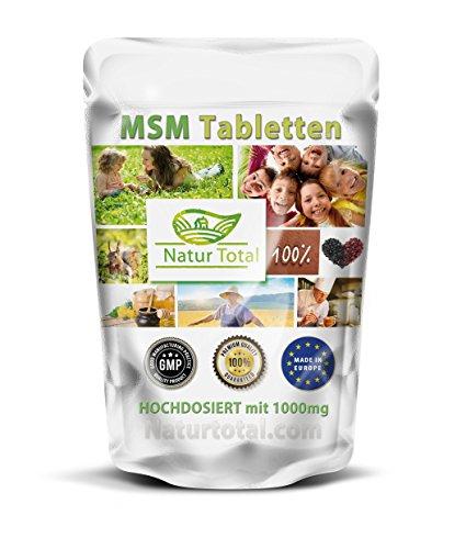 MSM-1000 (500 Tabletten) reine MSM (Methylsulfonylmethan)-Tabletten - hochdosiert mit 1000mg