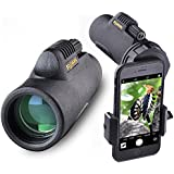 Solomark 8x32 Monocular With Digiscoping Photo Adapter - For Watching Games, Exhibition, Model Shows, Car Racing, Hiking,Climbing, Birdwatching, Watching Wildlife And Scenery