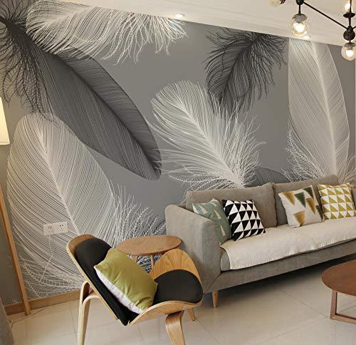 Fotomurales Decorativos Pared Vinilos Decorativos Papel Fotografico 3D Nordic Feather Tv Fondo...