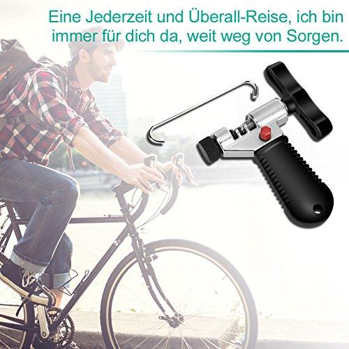 YISSVIC Kettennietdrücker Werkzeug Fahrradketten Entferner Werkzeug Fahrradreparatur-Set für Entfernen der Fahrrad Ketten schwarz - 3