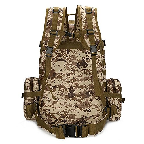 3 60 giorni, militare tattico da assalto, da campeggio, Sport all'aperto, Zaino da Trekking-Zaino borsa, nero Desert Digital