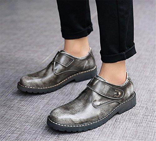 TMKOO Autunno e inverno nuove scarpe da uomo scarpe grandi scarpe Martin scarpe casual da uomo scarpe marea britanniche Gray