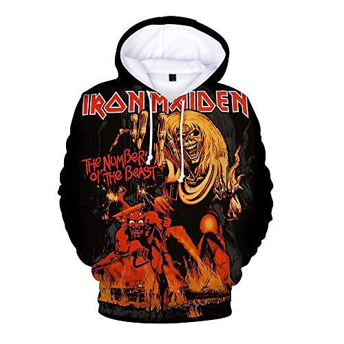 Bhjfeijkkl Iron Maiden Pullover Padre-Hijo Usar Camisas Impresas...