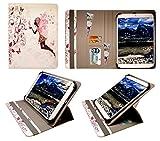 AlpenTab Almrausch 10.1 Inch Tablet Feenhaftes Blumenmädchen Universal 360 Grad Wallet Schutzhülle Folio mit Kartensteckplätzen ( 9 - 10 zoll ) von Sweet Tech