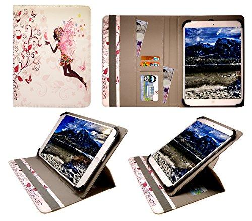 Digiland DL801W 8 Inch Tablet Feenhaftes Blumenmädchen Universal 360 Grad Wallet Schutzhülle Folio mit Kartensteckplätzen ( 7 - 8 zoll ) von Sweet Tech