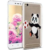 Uposao Hülle Xiaomi Redmi 5A Handyhüllen Transparent Weiche Silikon Durchsichtig TPU Kratzfest Schutzhülle Crystal Clear Ultra Dünn Silikonhülle Handytasche,Cartoon Panda
