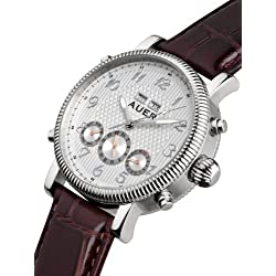 AUER Classic Collection BA-507-SlBrL Automatic Mens Watch Classic Design