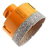 HOBBYPOWER24 Premium Diamantbohrkrone Fliesenbohrer Diamantbohrer Diamant Bohrkrone Fliese Feinsteinzeug Marmor Naturstein Granit M14 passend für Winkelschleifer Flex 6mm - 120mm (60mm)