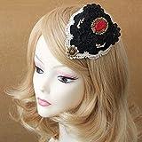 nouler Brauthut-Zubehör-England-Retro Hut Der Hochzeitsfotooberseiten-Haarnadelgeschenk,schwarz,Einheitsgröße