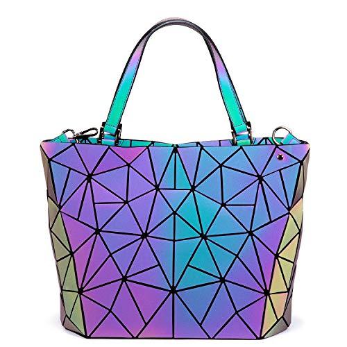 LOVEVOOK Handtasche Damen Geometrische Tasche Schultertaschen Umhängetaschen Einzigartige Geldbörsen, M- 1 Set, M - Tasche Geldbörse Handtasche