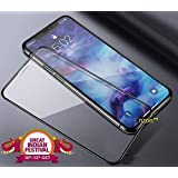 nzon 6D Anti-Scratch, Ultra-Clear Tempered Glass for iPhone X (Black)