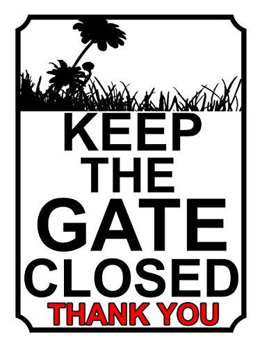 SHAWPRINT halten Sie das Tor geschlossen Thank You, mm Metall-Schild, 200x 247h1l, 25,4cm x 20,3cm (Geschlossen Sie Halten Tor)