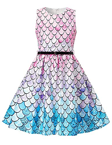 Meerjungfrau Fischschuppen Kostüm Cosplay Prinzessin Kleid up Birthday Pageant Party Dance Outfits Abendkleider ()