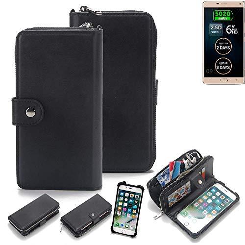 K-S-Trade 2in1 Handyhülle für Allview P8 Energy Pro Schutzhülle & Portemonnee Schutzhülle Tasche Handytasche Case Etui Geldbörse Wallet Bookstyle Hülle schwarz (1x)