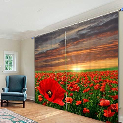LHKJ Las Cortinas Creativas Impresas están Decoradas Individualmente para Las Pantallas de la Sala de Estar del Dormitorio (Tamaño : W203cmH213cm)
